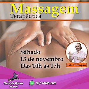 13/11/2021  - Sábado - Massagem Terapêutica (PRESENCIAL)