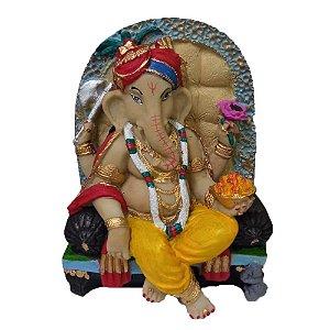 Estátua Deus Ganesha Colorido