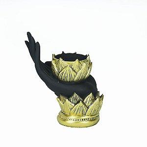 Porta Vela Mão de Lotus
