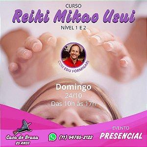 24/10/2021 - Domingo - Reiki I e II (PRESENCIAL)