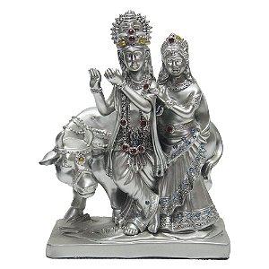 Estátua Família Real - Vishnu e Lashimi