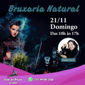 21/11/2021 - Domingo - Bruxaria Natural Mensal (PRESENCIAL e ONLINE)