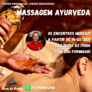 14/02/2021 - Massagem Ayurveda (ONLINE)