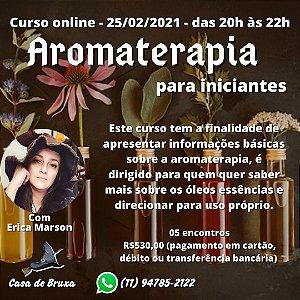 25/02/2021 - Aromaterapia para Iniciantes (ONLINE)