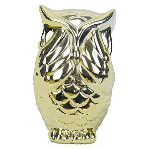 Coruja de Cerâmica - Dourada