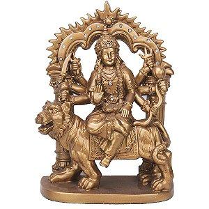 Deusa Durga Indiana com Portal - Dourada