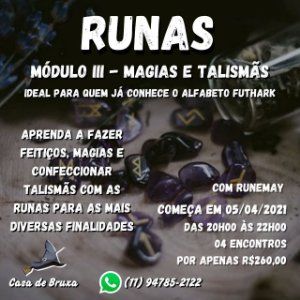 05/04/2021 - Magia e Talismãs Rúnicos (ONLINE)