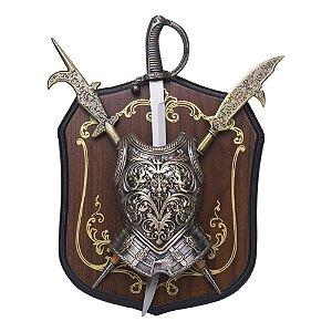 Espada Medieval em Suporte de Parede