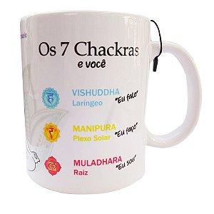 Caneca dos 7 chakras - Acompanha 7 cristais
