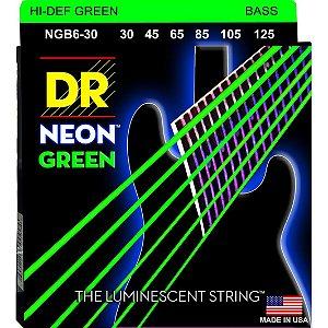 Encordoamento DR STRINGS Neon Verde (Green) para Baixo de 6 Cordas .45