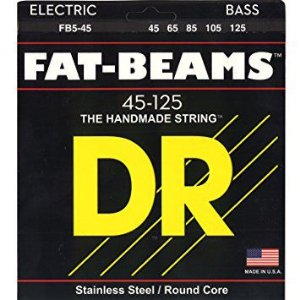 Encordoamento DR STRINGS Fat Beams para Baixo de 5 Cordas .45