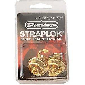 Straplock Dunlop Gold Para Guitarra e Baixo