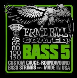 Encordoamento para baixo Ernie Ball Coated (com proteção) titânio  5C