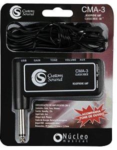 Mini Amplificador de Fone para Guitarra e Baixo