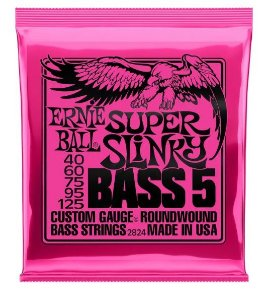 Encordoamento Ernie Ball Super Slink 5 Cordas 0.40 - Originais