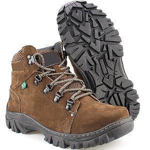 5d96a7604 Bota Way Boots Adventura Masculina Cano Médio Chocolate