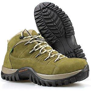 0ca8a6b51b2cd Bota Way Boots Adventure Trilha Masculina Cano Curto Oliva