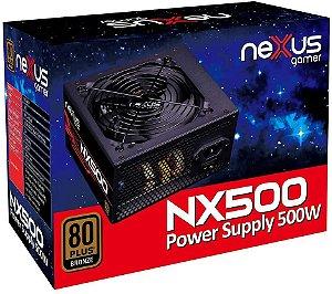 Fonte de Alimentação Nexus Gamer 500 Watts Reais 80 Plus Bronze