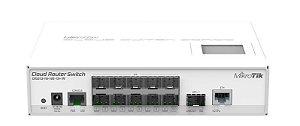Switch 10 portas SFP 1 RJ45 1 SFP+ 10GB Mikrotik CRS212-1G-10S01S+IN L5