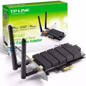 Adaptador Wireless PCI-E x1 Dual Band Ac1300 TP-Link Archer T6E