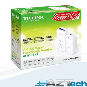 Adaptador Powerline Av1200 Gigabit Repetidor WiFi AC1200 TP-Link TL-WPA8630P Kit