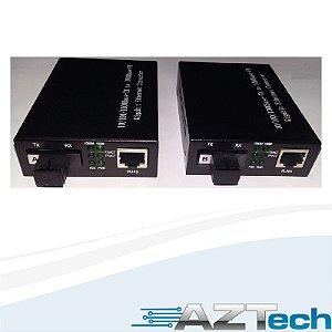 Kit Conversor 1 Fibra Fxo 40km 10/100/1000 SC  Gigabit