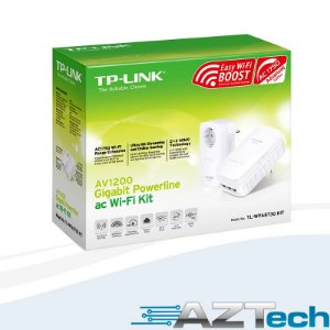 Adaptador Powerline Av1200 Gigabit Repetidor WiFi AC1750 TP-Link TL-WPA8730P Kit