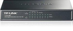 Switch 8 Portas Gigabit Com 4 Portas Poe Tp-link TL-Sg1008p