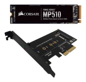 Kit Hd Ssd M2 240gb Corsair Mp510 + Adaptador M2 Pci-e