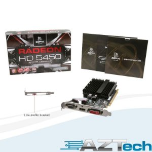 Placa de Vídeo Radeon HD 5450 1GB DDR3 XFX Low Profile HD-545X-ZQH2