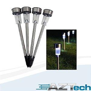 Luminária Solar de Jardim TWG Inox Kit 4 peças