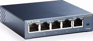 Switch 5 Portas Gigabit Gerenciável TL-Link TL-SG105