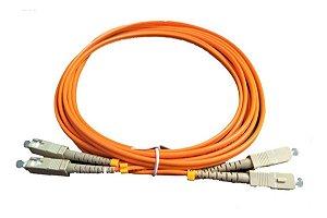 Patch Cord Fibra Óptica Sc Upc Multi-modo 3mts Duplex