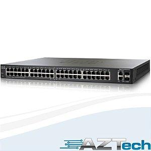Switch Cisco Slm248pt Sf200-48p 48 Portas Poe + 2 Portas Sfp