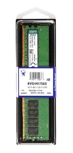Memória Kingston 8gb 2400mhz Ddr4 Cl17 Kvr24n17s8/8 Desktop