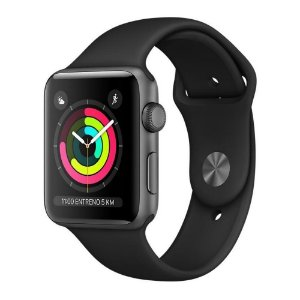 Apple Watch S3 42mm Space Gray Aluminum Black Sport (GPS) MTF32LL/A