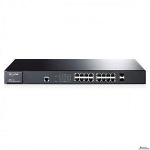 Switch Gerenciável 16 Portas Gigabit 10/100/1000 Tl-sg3216 T2600g-18TS 2 portas SFP