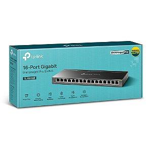 Switch Gigabit Gerenciável De 16 Portas Tp-link Tl-sg116e