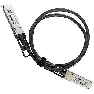 Cabo DAC Conexão Direta QSFP+ 40GBPS  comp. Q+DA001 1m para Mikrotik e outros