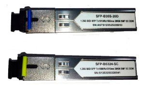 Kit Módulo Gbic Sfp Bi-direcional 20km Sc Fibra Sm 1550/1310 1FO