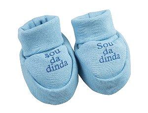 Sapatinho Ribana Recém Nascido na cor Azul - Frases Variadas
