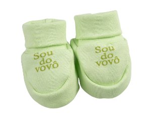 Sapatinho Ribana Recém Nascido na cor Verde - Frases Variadas