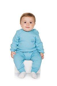 Pijama Menino Ribana Canelada - Celeste