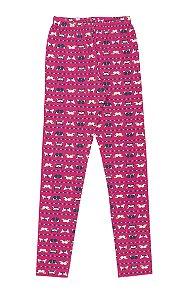 Calça Legging Menina Rotativa Cotton - Estampa Borboletas