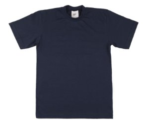 Camiseta Escolar Menino Meia Manga Meia Malha FIO 30/1 - Marinho