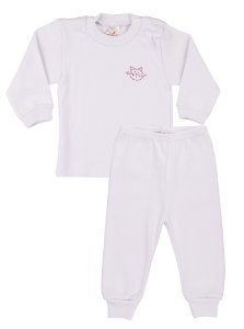 Pijama Menina Ribana Canelada - Branco