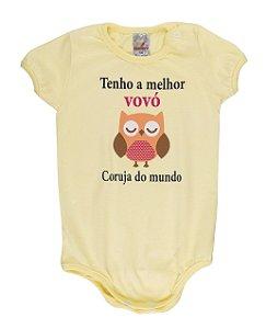 Body Menina Meia Malha 30/1 - Amarelo