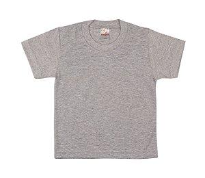 Camiseta Escolar Menino Meia Manga Meia Malha Fio 30/1 - Mescla