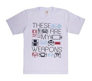 Camiseta Menino Meia Malha 30/1 - Branco