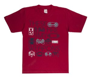 Camiseta Menino Meia Malha 30/1 - Vermelho